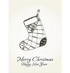 Happy Christmas card vector image