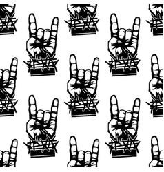 heavy rock music seamless pattern vintage vector image