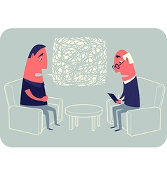Psychotherapist And Patient vector image vector image