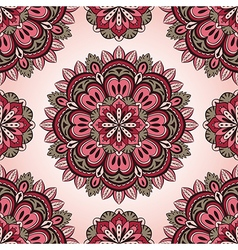 Simple pink and grey pattern vector image