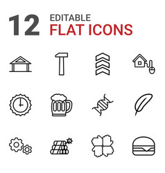 12 sign icons vector