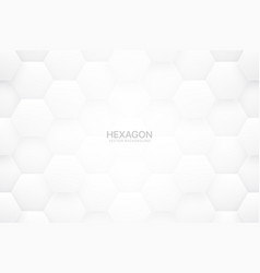 3d tech hex white abstract background vector image