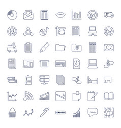49 information icons vector