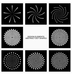 Abstract dotted shapes vector