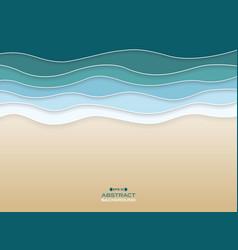 Abstract of coast sea wavy blue water color vector