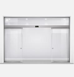Automatic glass doors vector