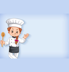 Background template design with happy chef smiling vector