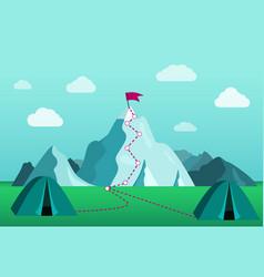 beautiful mountain landscape hiking vector image