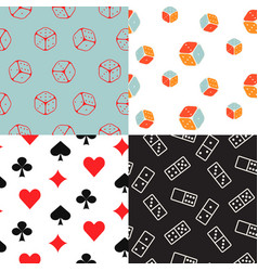 board and card seamless pattern line icons vector image