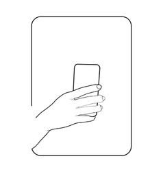 Border smartphone in hand 2 vector