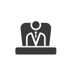 boss icon vector image