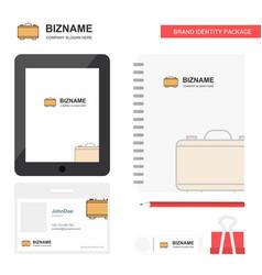 briefcase business logo tab app diary pvc vector image