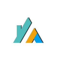 building business logo shape triangle vector image
