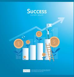 Business concept of achievement goal success flag vector