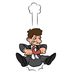 Businessman is falling down 2 vector image