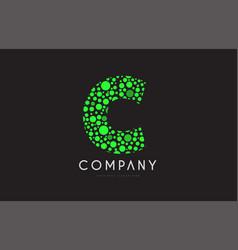 C letter bubble green logo icon design vector