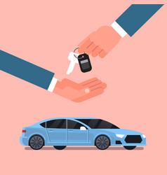car purchase sale or rental concept seller man vector image