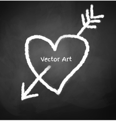Chalked heart vector image