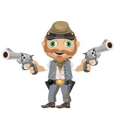 Cheerful southerner cartoon character vector image