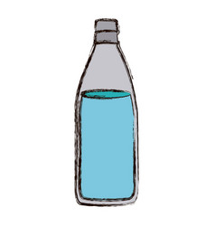 Color blurred silhouette with bottle of water vector