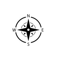 Compass logo icon north arrow orienteering vector