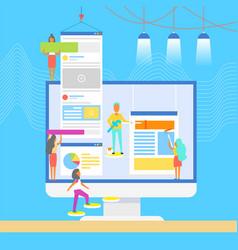 Computer developers designers vector
