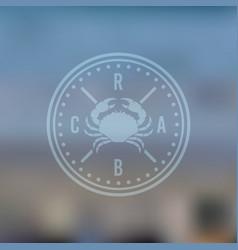 crab restaurant menu label on blured background vector image