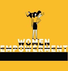 Creative word concept women empowerment and women vector