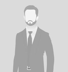 Default placeholder businessman half-length portr vector