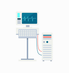Electrocardiogram equipment vector