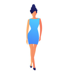 elegant fashion model in dress vector image