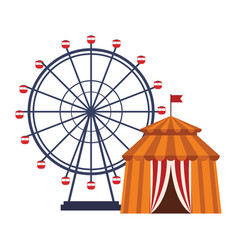 ferries wheel icon vector image