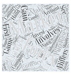 Forex Trading should you invest Word Cloud Concept vector