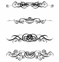 Four vignettes vector