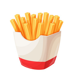 french fries in carton package vector image