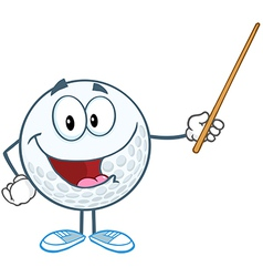 Golf lessons vector image