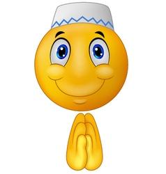 Greeting Muslim emoticon vector image vector image