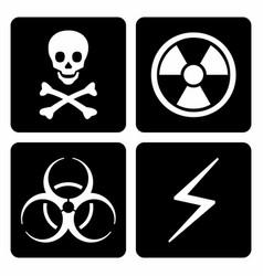 hazard icons set vector image