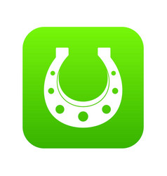 horseshoe icon digital green vector image