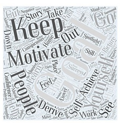 Improvement Motivational Self Word Cloud Concept vector