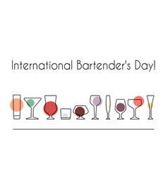 International bartenders day vector