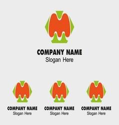 M alphabet logo letter M icon vector