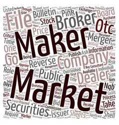 Market Makers Play a Significant Role in Reverse vector