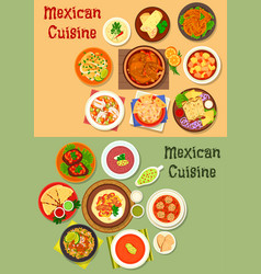 mexican cuisine dinner dish icon for menu design vector image