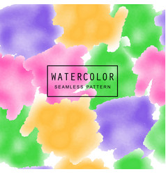 multicolors watercolor background seamless vector image