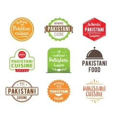 Pakistani cuisine label vector image
