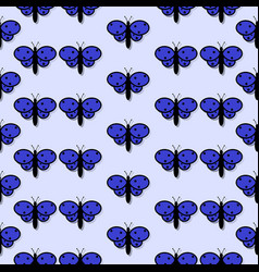 Pattern with the image of butterflies with a vector