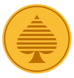 peaks suit gold coin vector image