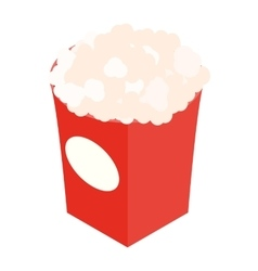 Popcorn isometric 3d icon vector