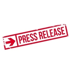 Press release stamp vector